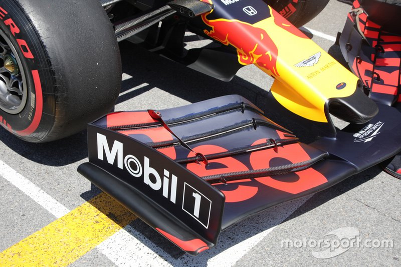 Red Bull Racing, front wing detail