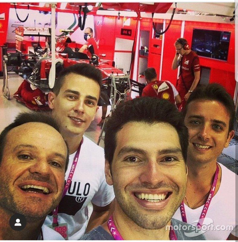 Rubens Barrichello, Diego Nunes, Galid Osman e Felipe Lapenna