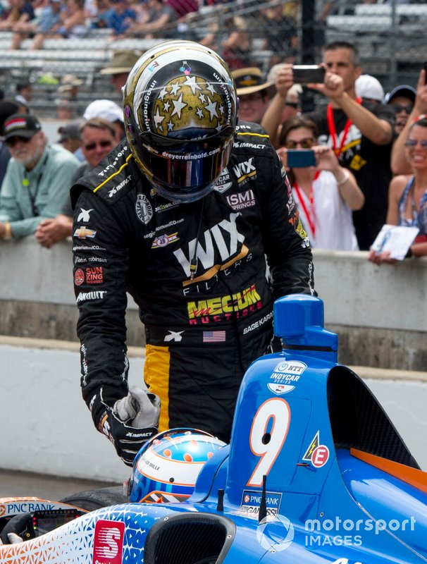 Sage Karam, Dreyer & Reinbold Racing Chevrolet, Scott Dixon, Chip Ganassi Racing Honda