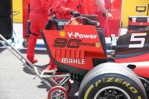Ferrari SF90 rear wing detail