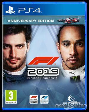 Portada del videojuego 'F1 2019' en España
