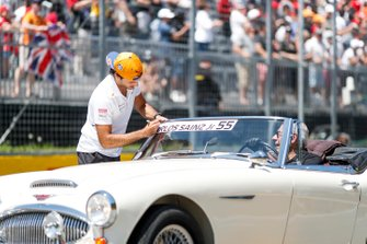 Carlos Sainz Jr, McLaren, in the drivers parade