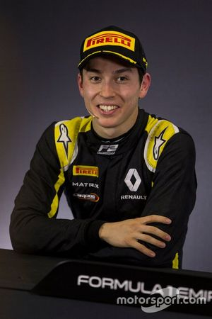 Second place Jack Aitken, Campos Racing in press conference