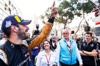 Jean-Eric Vergne, DS TECHEETAH celebrates victory in parc ferme