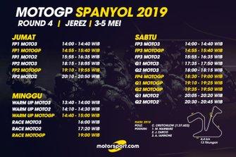 Jadwal MotoGP Spanyol 2019