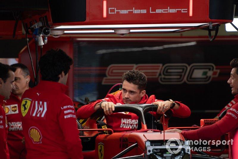 Charles Leclerc, Ferrari, nell'abitacolo della Ferrari SF90