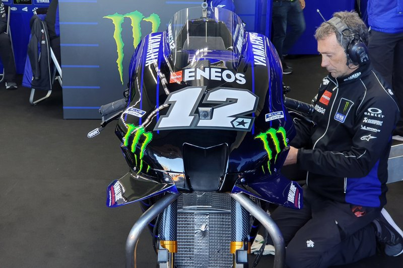 La moto de Maverick Vinales, Yamaha Factory Racing
