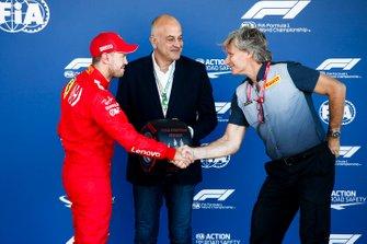 Pole Sitter Sebastian Vettel, Ferrari with the Pirelli Pole Position Award