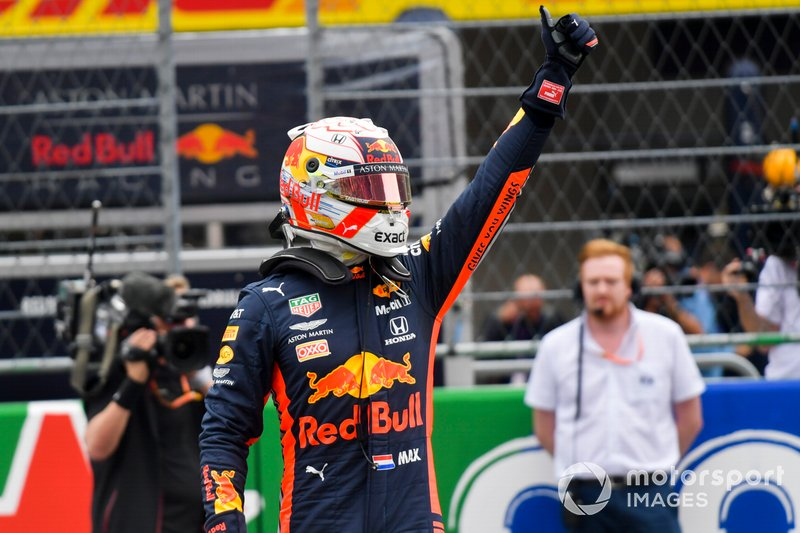Il poleman Max Verstappen, Red Bull Racing