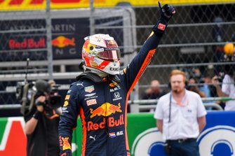 Pole sitter Max Verstappen, Red Bull Racing