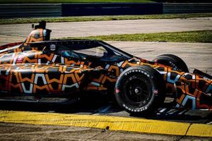 Aeroscreen-Test: Patricio O'Ward, Arrow McLaren SP Chevrolet