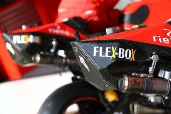 Detalle de la moto de Andrea Dovizioso, Ducati Team