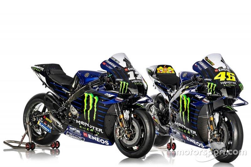 Moto de Maverick Vinales, Valentino Rossi, Yamaha Factory Racing