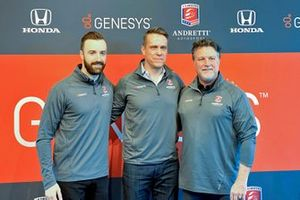 James Hinchcliffe, Keith Pearce of Genesys, Michael Andretti