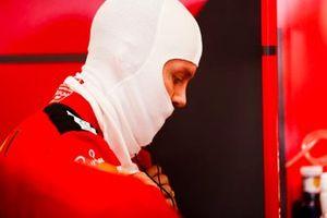 Sebastien Vettel, Ferrari in the garage