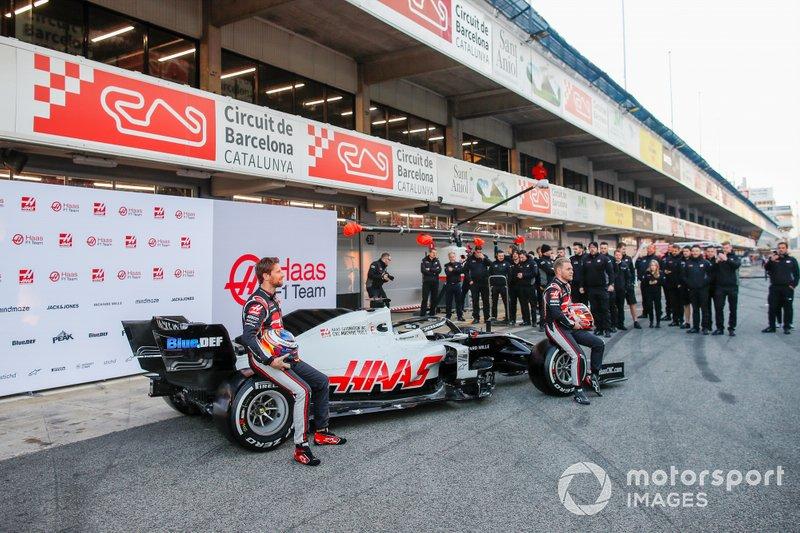 Romain Grosjean, Haas F1 Team et Kevin Magnussen, Haas F1 Team