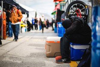Black Swan Racing crew member