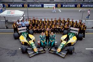 Johnny Herbert and Mika Hakkinen, Lotus with the team