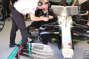 Mercedes AMG F1 W11 brake and front suspension