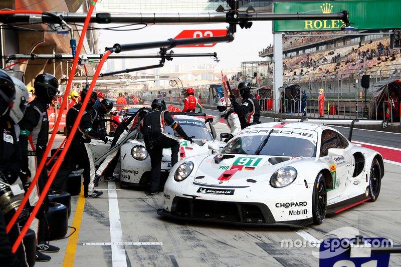 #91 Porsche GT Team Porsche 911 RSR - 19: Gianmaria Bruni, Richard Lietz, #92 Porsche GT Team Porsche 911 RSR - 19: Michael Christensen, Kevin Estre