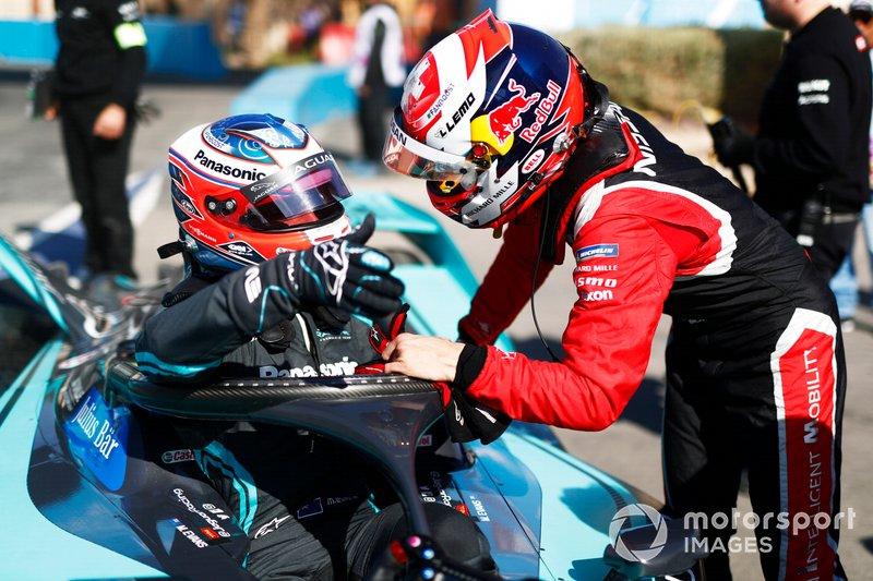 Mitch Evans, Jaguar Racing, Jaguar I-Type 4, con Sébastien Buemi, Nissan e.Dams