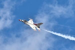U.S.A.F. Thunderbirds during pre race