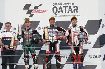 Podium : Jorge Martinez, John McPhee, SIC Racing Team, Albert Arenas, Aspar Team, Ai Ogura, Honda Team Asia