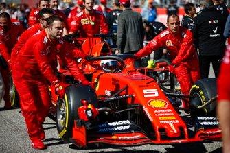 Sebastian Vettel, Ferrari, op de grid