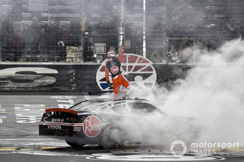 Race winner Christopher Bell, Joe Gibbs Racing, Toyota Supra Rheem