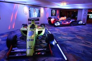 MSV F2 car and Red Bull Racing RB15 F1 car on display