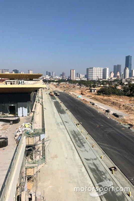 Circuito Hanoi in costruzione
