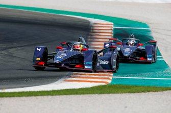 Робин Фрейнс, Envision Virgin Racing, Audi e-tron FE06 и Сэм Бёрд, Envision Virgin Racing, Audi e-tron FE06