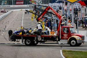 Zach Veach, Andretti Autosport Honda, Alexander Rossi, Andretti Autosport Honda on the tow truck