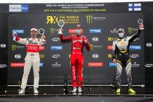 Podio: El ganador de la carrera Niclas Gronholm, GRX Taneco, segundo lugar Mattias Ekström, KYB Team JC, tercer lugar Timur Timerzyanov, GRX Taneco