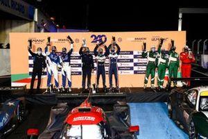 Podium: #8 Realteam Racing Ligier JS P320 - Nissan: Esteban Garcia, David Droux, #22 United Autosports Oreca 07 - Gibson: Philip Hanson, Filipe Albuquerque, #55 Spirit of Race Ferrari F488 GTE EVO: Duncan Cameron, Matthew Griffin, Aaron Scott