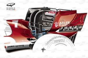Alfa Romeo Racing C39 rear end plate