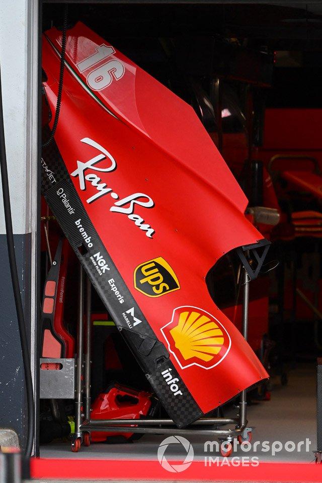 Charles Leclerc, carrocería del Ferrari SF1000