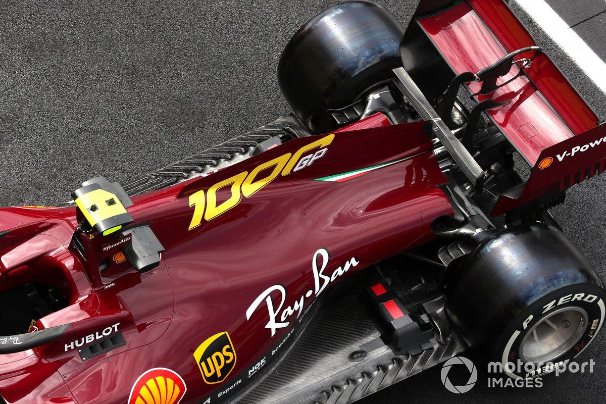 Nuova livrea rosso scuro di Charles Leclerc, Ferrari SF1000