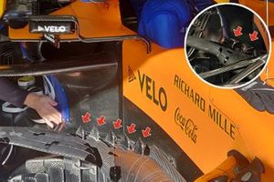 McLaren MCL35 bargeboards detail