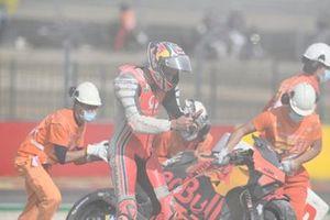 Jack Miller, Pramac Racing en Brad Binder, Red Bull KTM Factory Racing crash