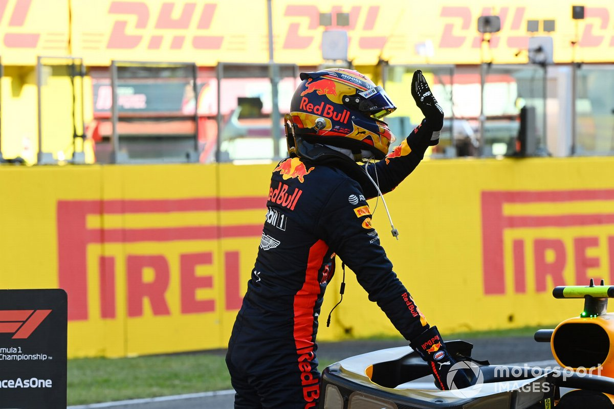 Tercer lugar Alex Albon, Red Bull Racing