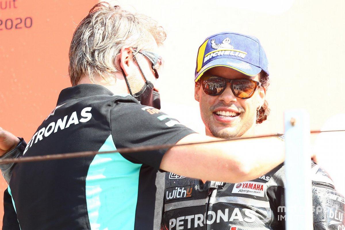 Podio: Johan Stigefelt, y el ganador Franco Morbidelli, Petronas Yamaha SRT