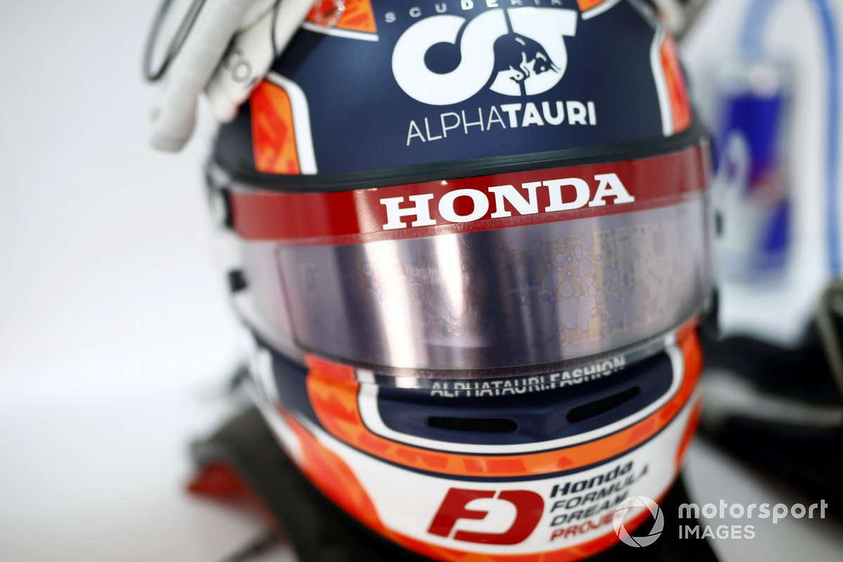 Il casco di Yuki Tsunoda, Honda Formula Dream Projects