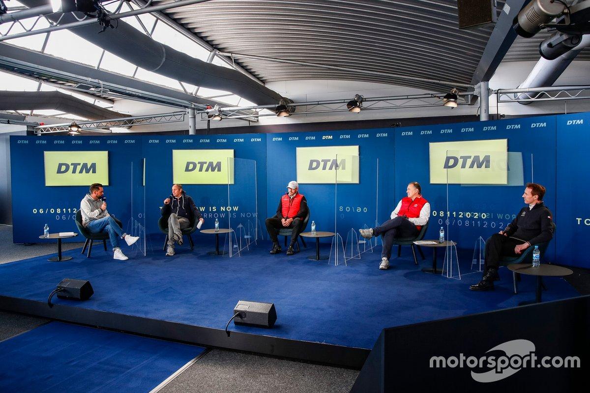 Matthias Killing, SAT1 TV, Gerhard Berger, Presidente ITR, Chris Reinke, Capo di Audi Customer Racing, Lutz Leif Linden, AvD, Thomas Jäger, AMG