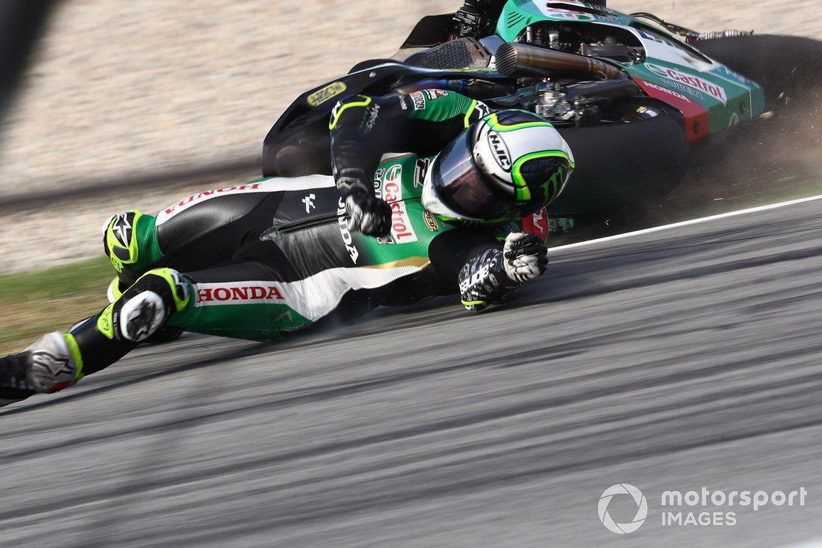 Cal Crutchlow, Team LCR Honda caída