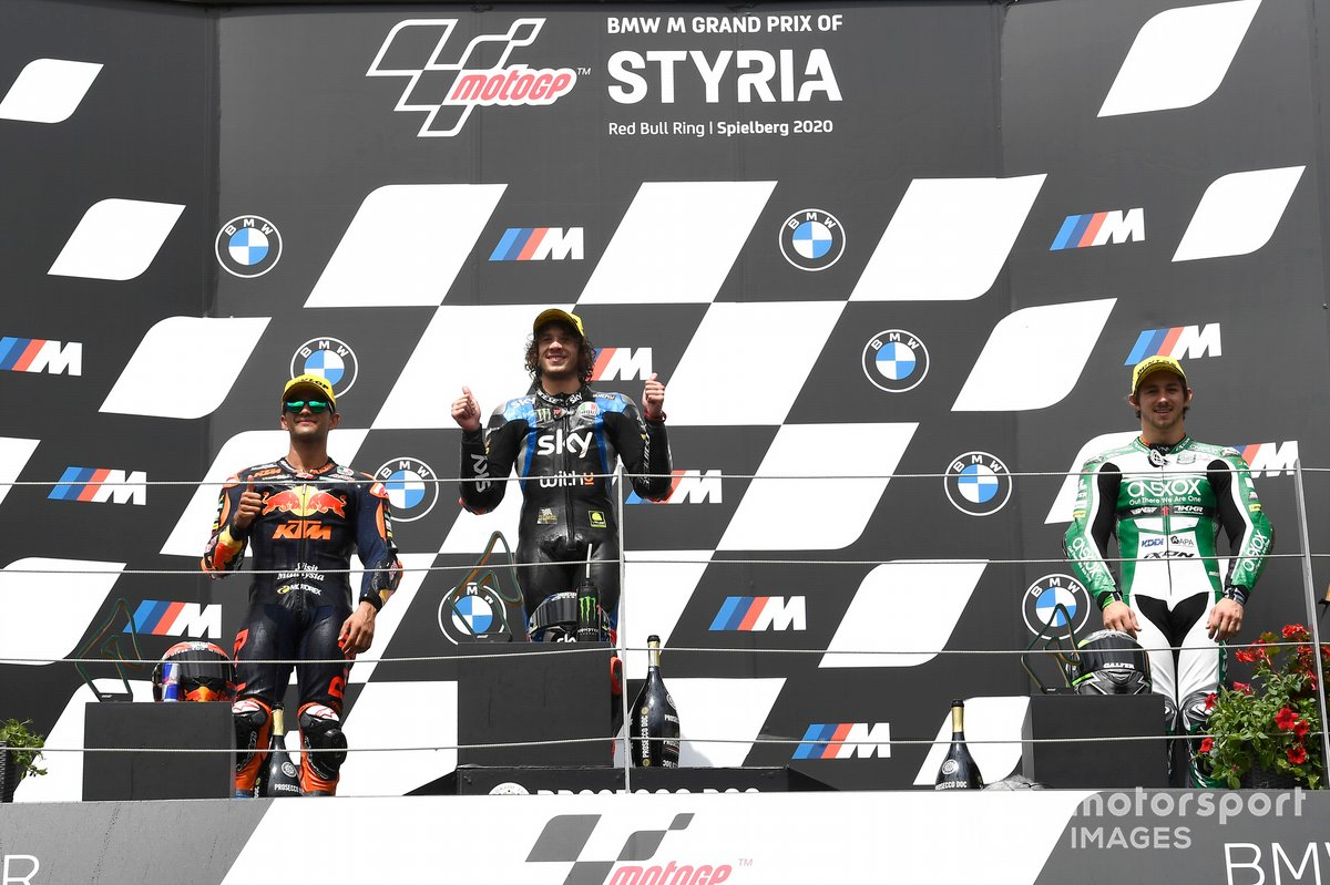 Jorge Martin, Red Bull KTM Ajo, Marco Bezzecchi, Sky Racing Team VR46, Remy Gardner, SAG Racing Team