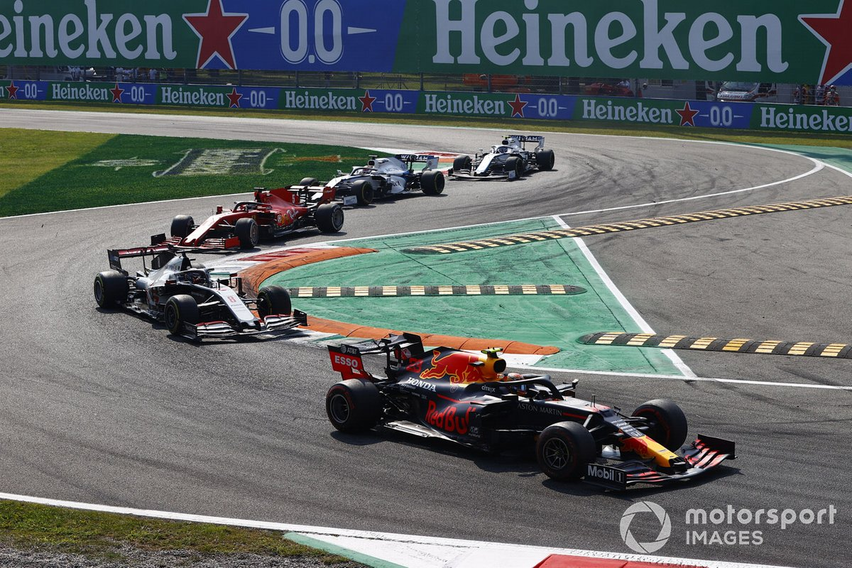 Alex Albon, Red Bull Racing RB16, Romain Grosjean, Haas VF-20, Sebastian Vettel, Ferrari SF1000, George Russell, Williams FW43, Nicholas Latifi, Williams FW43