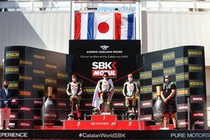 Scott Deroue, MTM Kawasaki Motoport, Yuta Okaya, MTM Kawasaki Motoport, Jeffery Buis, MTM Kawasaki Motoport