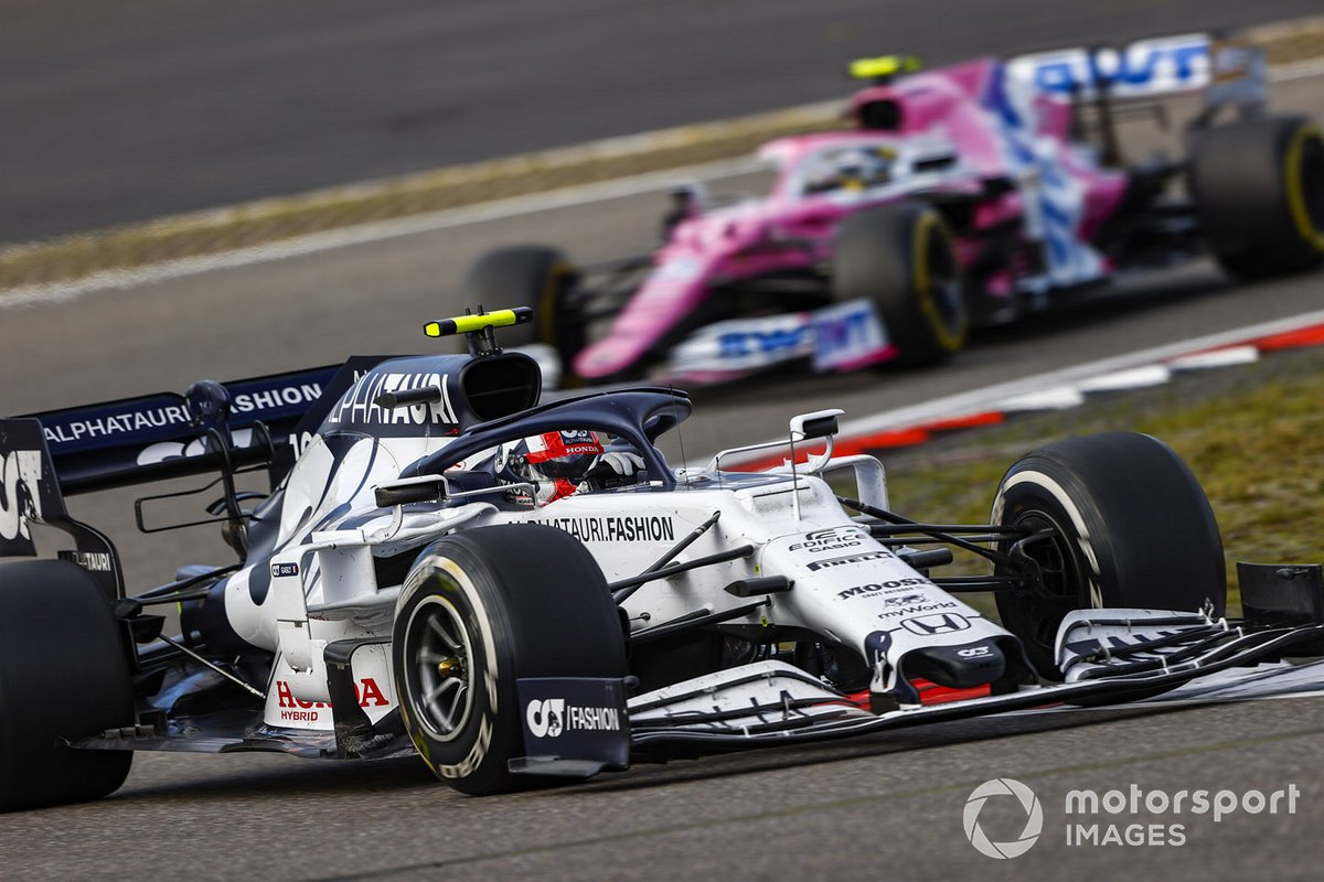 Pierre Gasly, AlphaTauri AT01, Nico Hulkenberg, Racing Point RP20