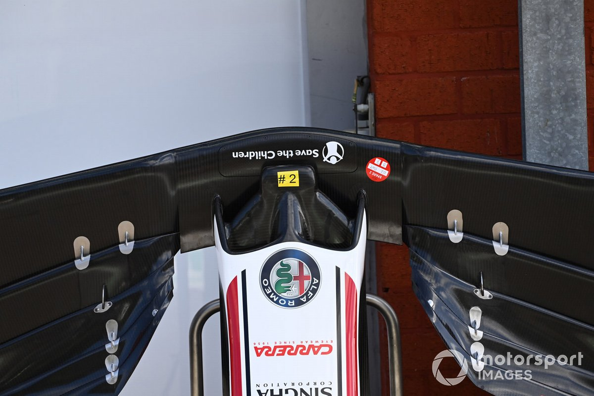 Detalle del frente del Alfa Romeo Racing C39